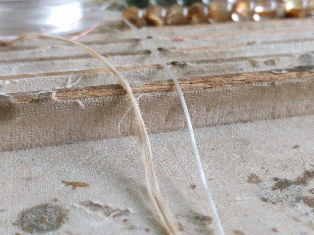 ブレスレット修理 糸替え